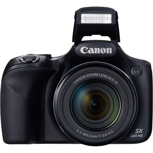 "Canon PowerShot SX520 HS Digital Camera - 3"" LCD Display, 16 MegaPixels, 42x Optical Zoom, 1920 x 1080 Video, CMOS Senso"