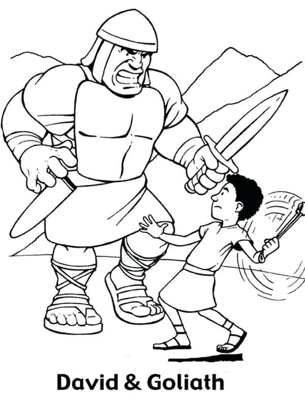 David And Goliath Coloring Pages Best Coloring Pages For Kids Sunday School Coloring Pages Bible Coloring Pages David Bible