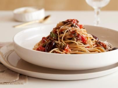 Pasta Puttanesca #Grains #Veggies #MyPlate: Food Network, Healthy Pasta, Ellie Krieger, Mail Puttanesca, Cookingchanneltv Com, Healthy Recipes, Puttanesca Recipe, Favorite Recipes