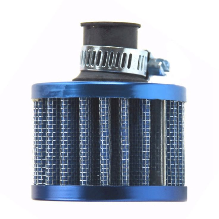 Universal 12mm Blue Mini Car Motor High Flow Cold Air Intake Filter Turbo Vent Crank Auto Filter Cleaner