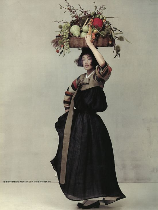 Asia | Vogue Korea (Oct 2010) Choi Ara #hanbok