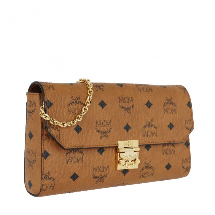 Handtasche, MCM, Millie Large Crossbody Bag Cognac
