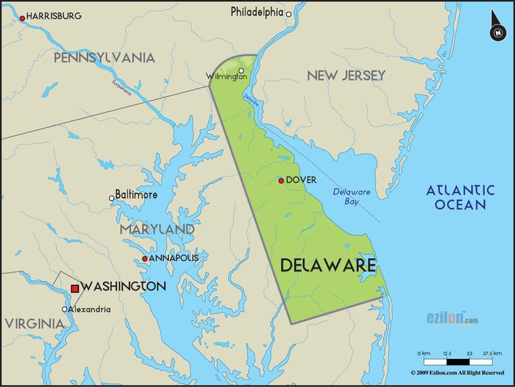 Best Delaware Images On Pinterest States United - State of delaware map