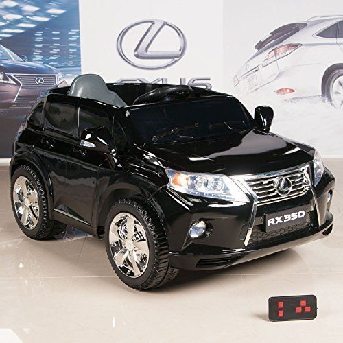 Lexus RX 350 Black 12V Battery Powered Wheels Kids Ride On Car With RC Remote