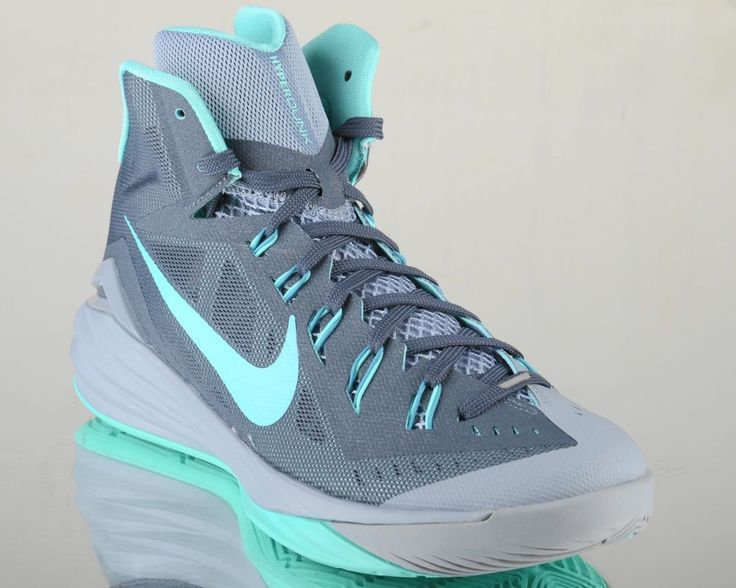 Nike Hyperdunk 2014 mens lunar basketball shoes NEW dark magnet grey turquoise #Nike #BasketballShoes