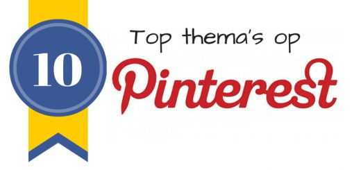 10 top thema's op #pinterest, wat is jouw favoriete thema?