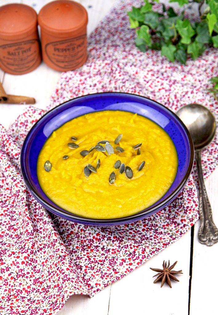 zupa dyniowa, zupa z dyni, krem z dyni, krem z dyni w pięciu smakach, zupa dyniowa w pięciu smakach, orientalna zupa z dyni,