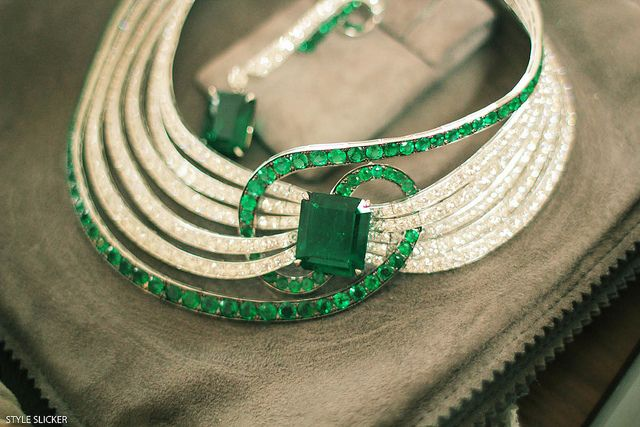 Adler emerald and diamonds necklace. http://www.styleslicker.com/2010/08/30/youre-my-kryptonite/