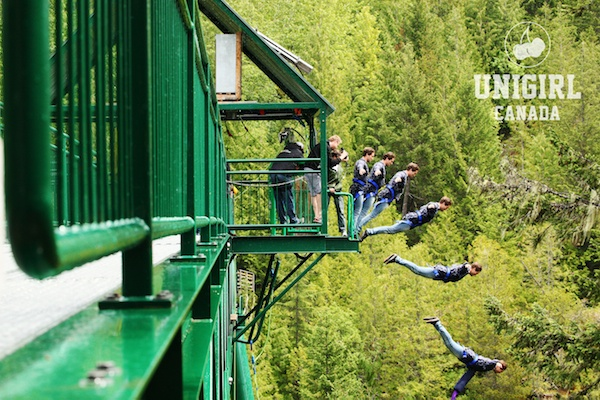 Unigirl photographer Andrew McIver shows us how a bungee jump should be done in Whistler, British Columbia, Canada. (Whistler Bungee)