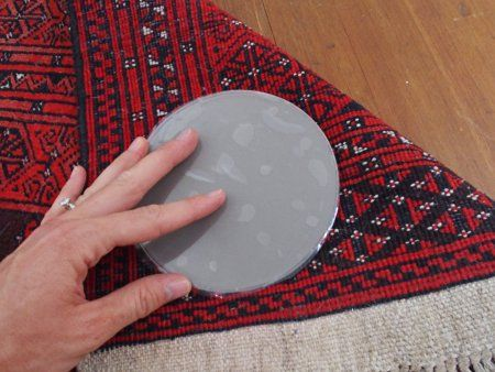 Sticky Discs Non-Slip Rug Pads For Rug On FLOOR Anti-Slip. 12 Pack. Designed For RUG On FLOOR Anti-Slip. Limits Multiple MEDIUM/LARGE Rugs/Exercise/Door Mats From Moving On FLOOR. BRAND NEW!