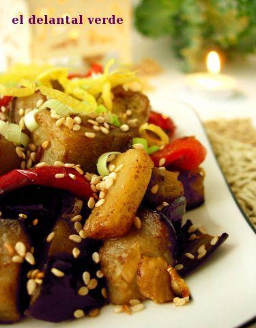 Berenjena con especias | #Receta de cocina | #Vegana - Vegetariana ecoagricultor.com