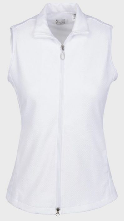 Check out our White ESSENTIALS  Greg Norman Ladies & Plus Size Honeycomb Textured Knit Golf Vest! Find stylish golf apparel at #lorisgolfshoppe Click through to own this vest!