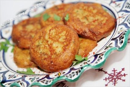A variant of Maakouda (Moroccan potato croquette) with eggplant