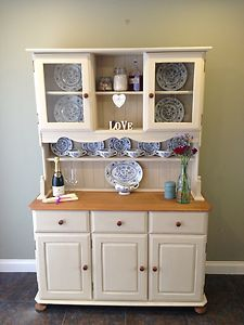 Welsh Farmhouse Kitchen Dresser Painted In Annie Sloan Shabby Chic Style Ebay
