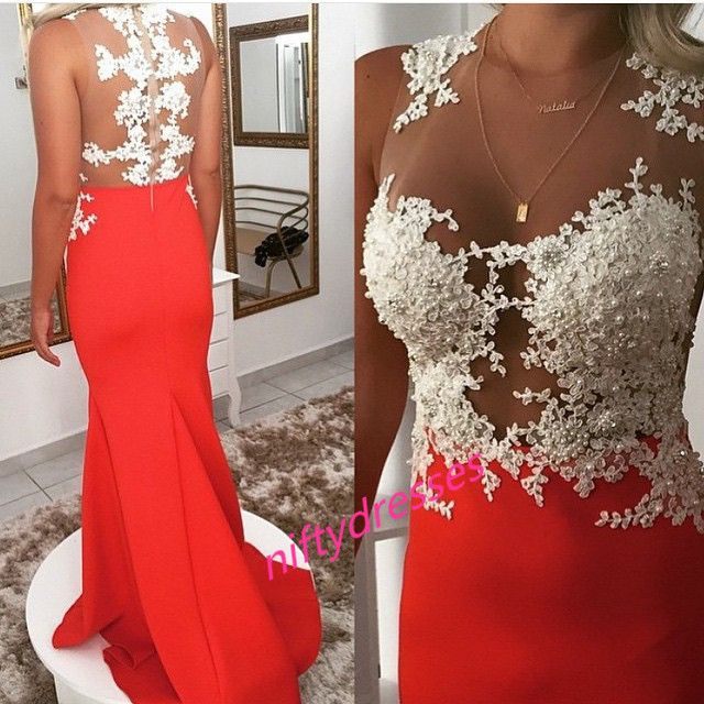 New Arrival Appliques Prom Dress,See Though Prom Dress,Tulle Evening Gowns,Chiffon Prom Gown,Formal Women Dress