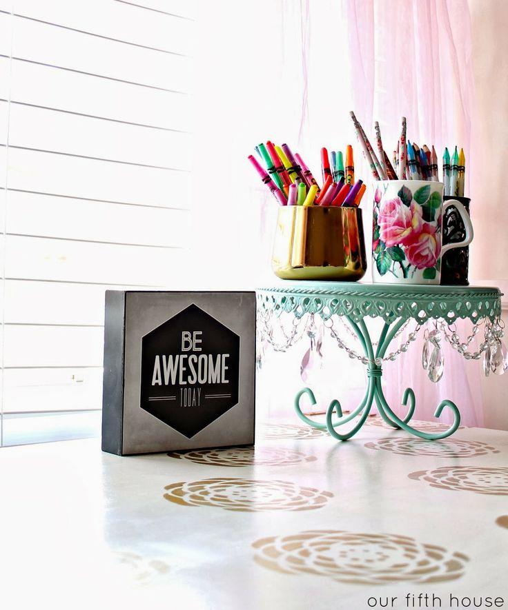 little girl's desk accessories