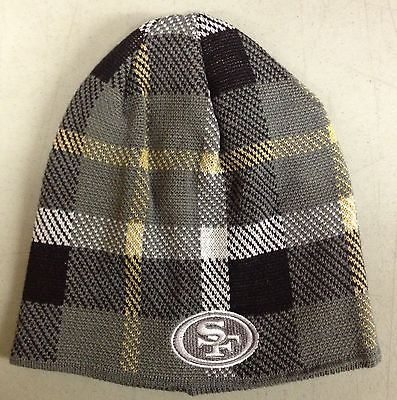 San Francisco 49ers Knit Beanie Toque Winter Hat Skull Cap NEW NFL - GREY PLAID