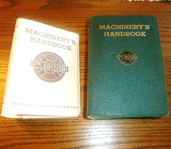 Machinery's Handbook 11th Edition 1942  by heritagegeneralstore #industrial #shop #mechanical #mancave
