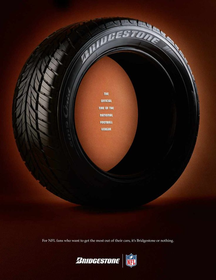 Bridgestone: Official Tire of the NFL | Creativity, Advertising & Design | Pinterest | Ads
