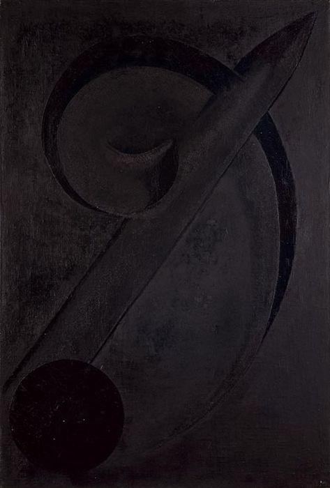 Alexander Rodchenko, Black on Black , 1918, oil on..
