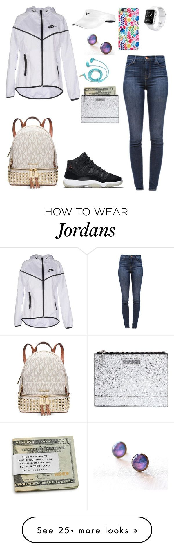 nike shoes Nike outfit ⌚️ by sweet-brownsuga on Polyvore featuring NIKE, J Brand, FOSSIL, Michael Kors and Kenzo