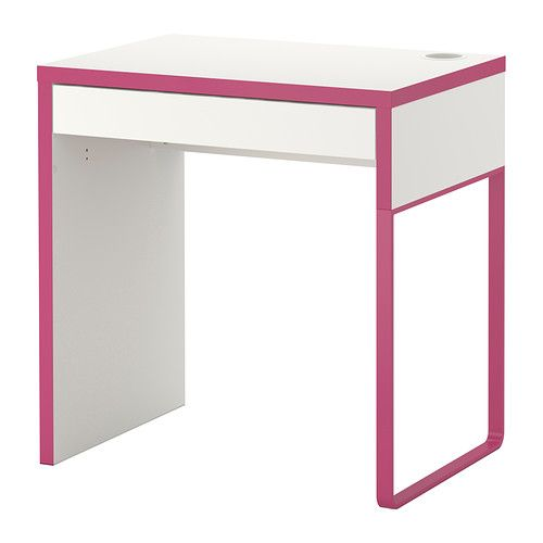 Micke Desk White Pink Ikea A New For My Sewing Machine Or Lap To Match Awesome Huge I Have