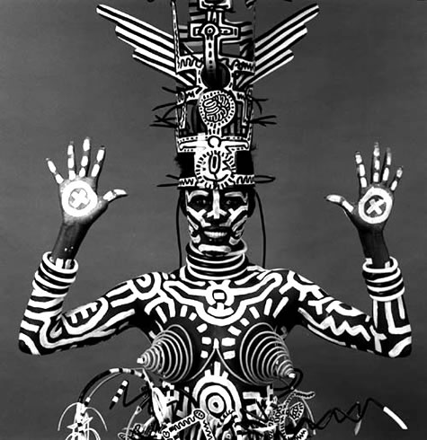 Grace Jones painted by Keith Haring