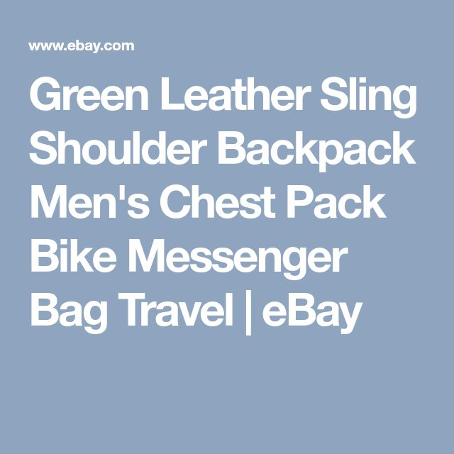 Green Leather Sling Shoulder Backpack Men's Chest Pack Bike Messenger Bag Travel | eBay