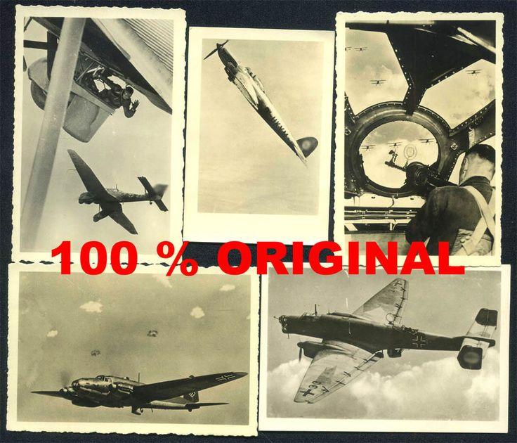 5 x orig WK2 PK FOTO Konvolut - Unsere Luftwaffe - Flugzeuge - Bomber - Junkers