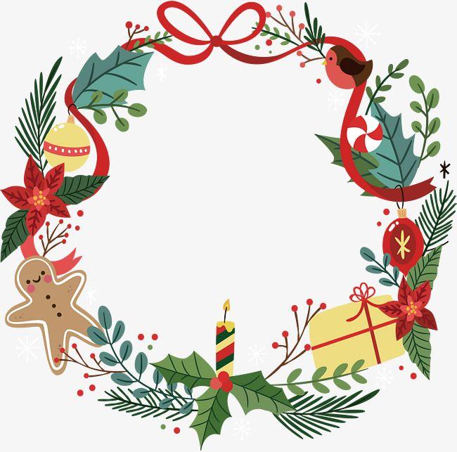 Hermosas guirnaldas de Navidad, Vector PNG, Navidad, Navidad PNG y Vector | Tarjetas de navidad para imprimir, Navidad png, Vectores navidad