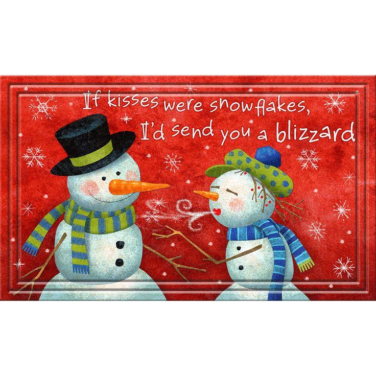 Indoor/ Outdoor Snowman Pickup Doormat