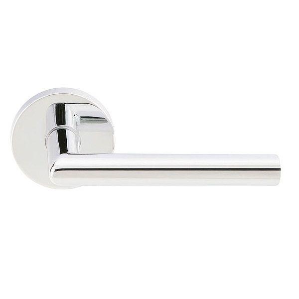 Emtek stuttgart lever brass modern interior door leverset - Contemporary interior door levers ...