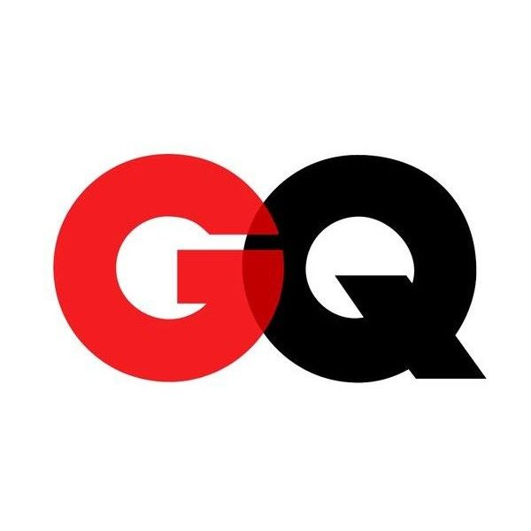 GQ logo two element logos ❤ liked on Polyvore featuring magazine