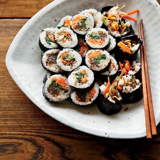 #Korean #sushi rolls with walnut-edamame crust from BNC '06 David Chang