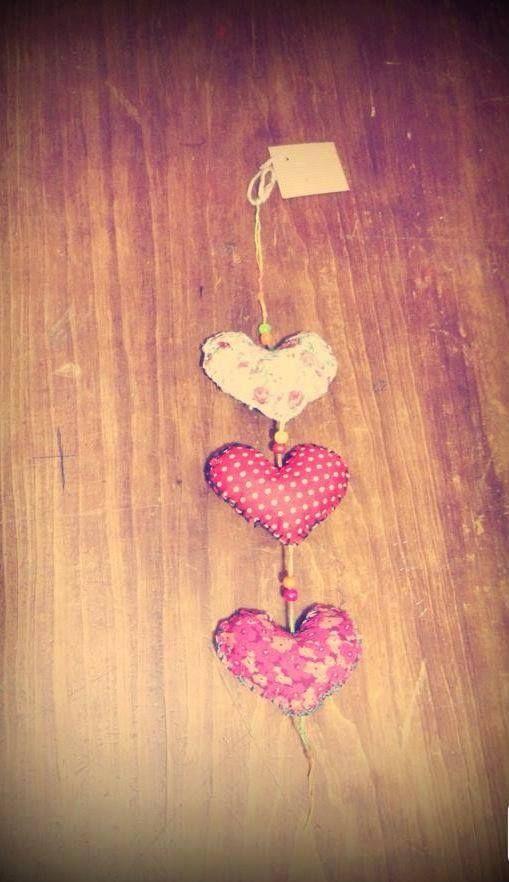 Colgante tres corazones