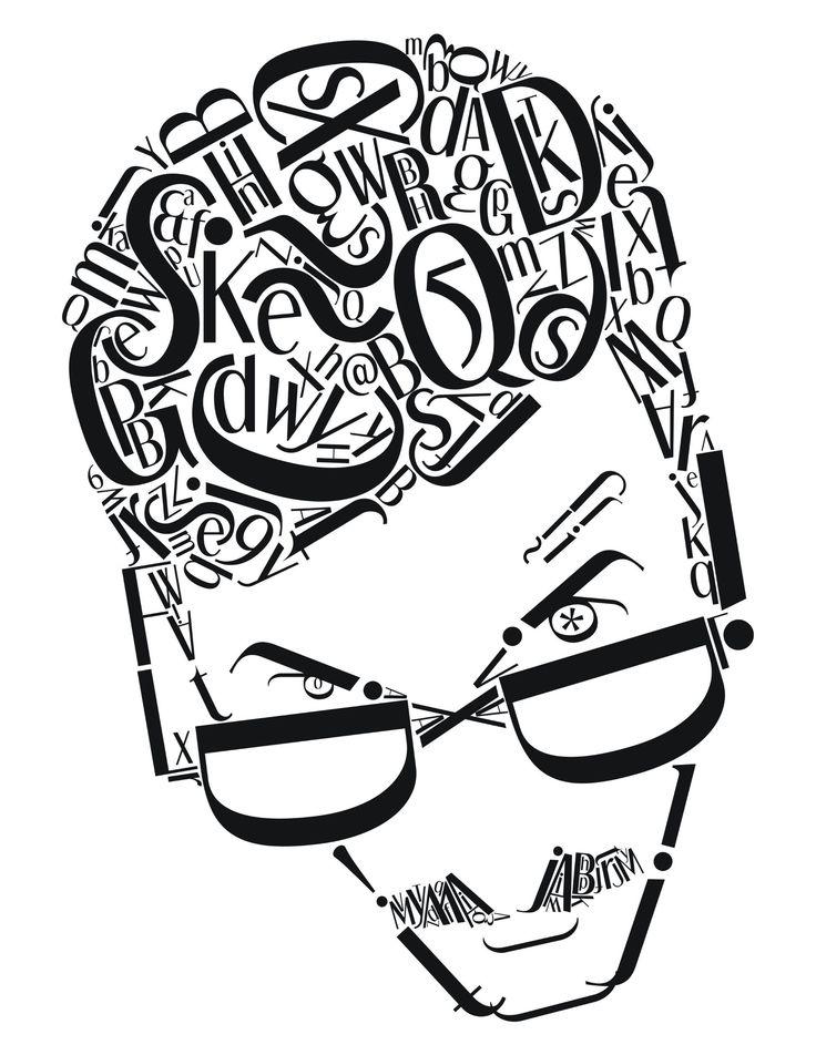 Typographic Self Portrait - Imgur