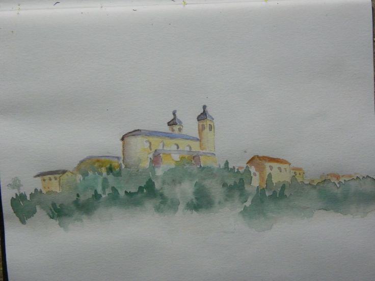 #camerino #watercolour sketch