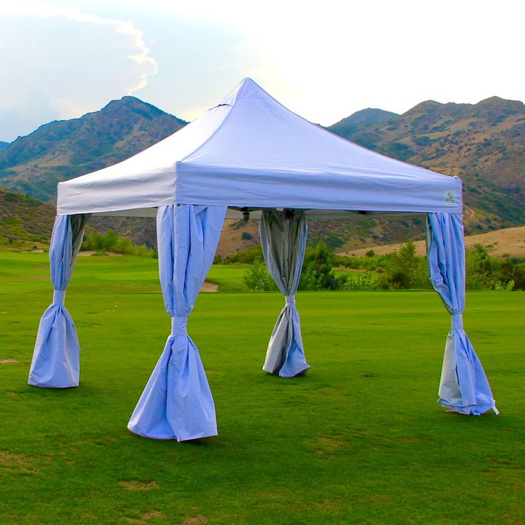 Undercover 10' x 10' Instant Canopy with Polyester walls and CRS attachment