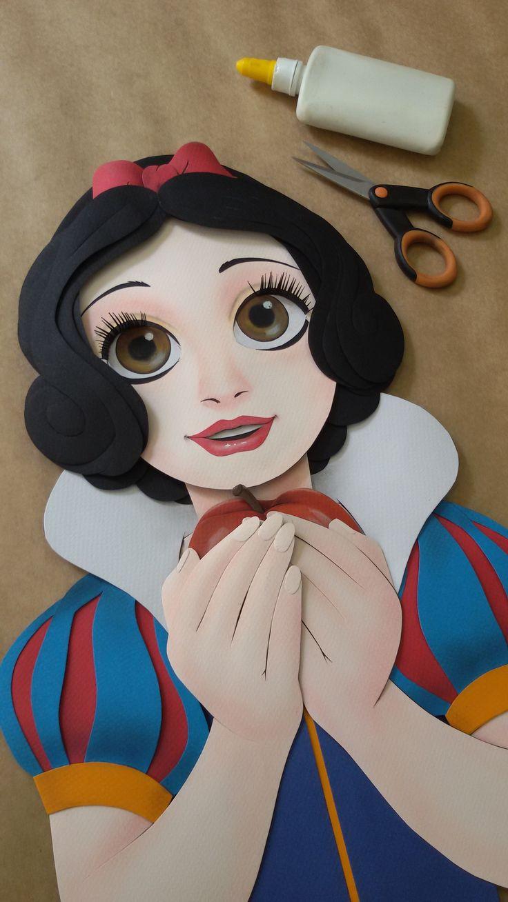 Branca de Neve - Paper Sculpture by Vlady - dvd Princesas  - vol. 01