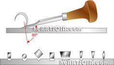Hand engraving techniques and tools - http://heartjoia.com/5064-buril-buris-gravacao-gravura