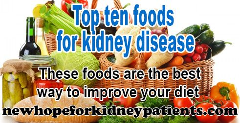 It has been proven that the right diet can slow down kidney disease. The following foods are absolutely the best for patients wanting to improve their diet and their health. - See more at: http://newhopeforkidneypatients.com/top-ten-foods-kidney-disease/