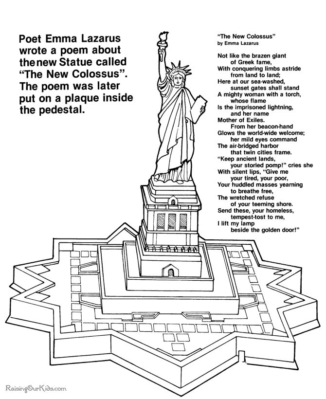 72 best activities for my Statue of Liberty book images on Pinterest ...