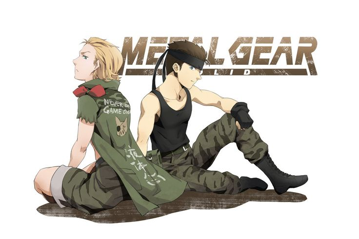 Eli (Liquid Snake) & David (Solid Snake)