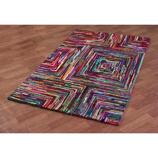 Brilliant Ribbon Blocks Rug (5u0027 x 8u0027) | Overstock.com Shopping. Floor  RunnerRunner ...