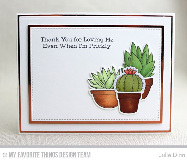 Sweet Succulents, Sweet Succulents Die-namics, Stitched Rectangle STAX Die-namics, Rectangle STAX Set 1 Die-namics - Julie Dinn  #mftstamps