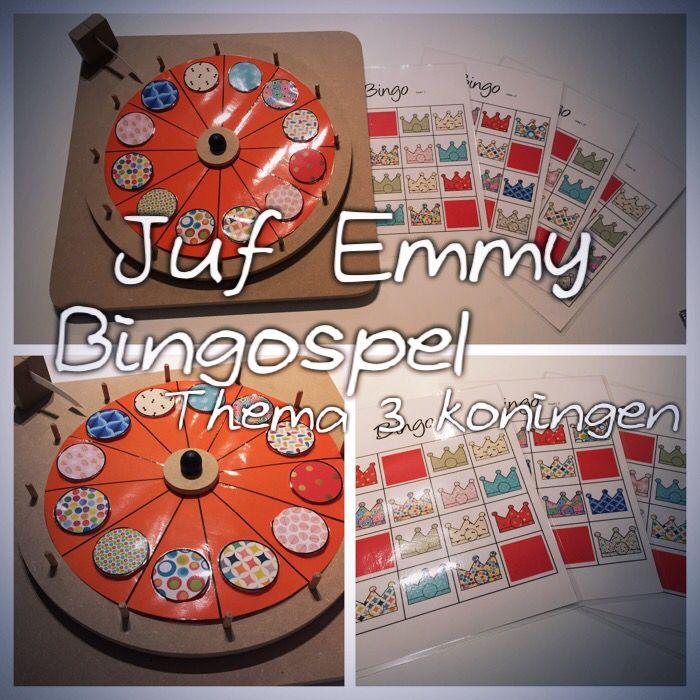 Juf Emmy!  Bingospel 3 koningen