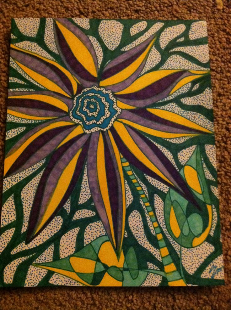 17 Best images about Sharpie Art on Pinterest | Sunflower ... Sharpie Art Flowers