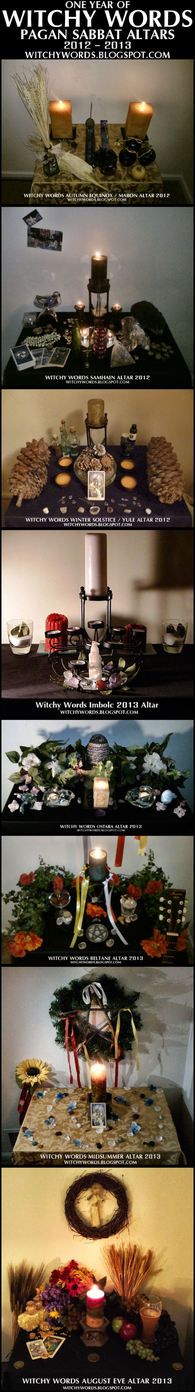 Witchy Words: One Year of Pagan Sabbat Altars #pagan #wicca #witch
