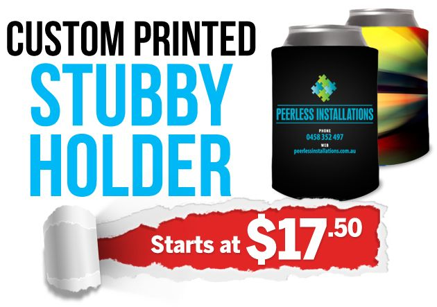 Your super-cool Stubby Holders feature a handy quick-release Velcro Seal, and can be printed in full colour from top to bottom with your thrilling custom designs.
