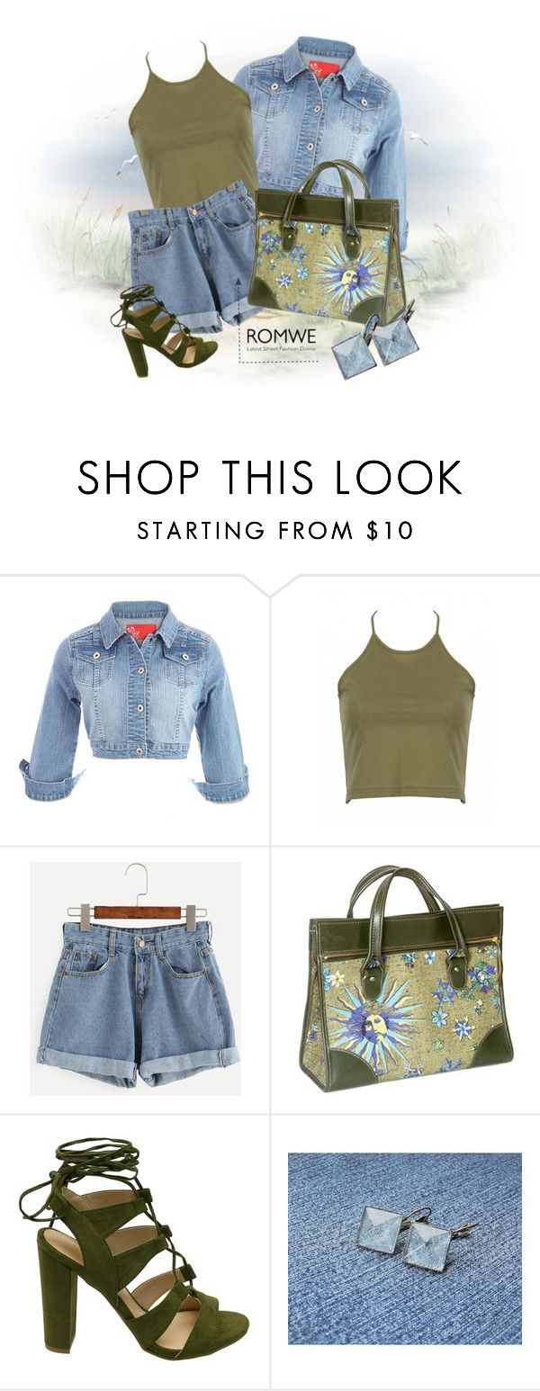 """Blue denim shorts"" by styledonna ❤ liked on Polyvore featuring denimshorts"
